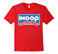 Ihoop Fun Basketball Shirt - Games Over Easy Graphic T-shirt Red