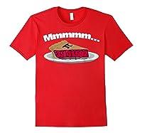 Mmm Pi (pie) Funny Pi Math Pun Pie Lovers T-shirt Red