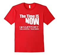 Oklahoma Tea Shirt - Protest Tee For Walkout Red