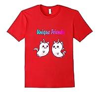 Caticorn Friends Unicorn Cat Rainbow Shirts Red
