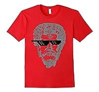 Marcus Aurelius Sunglasses T-shirt Funny Stoic Red