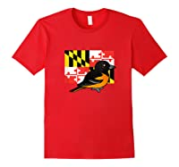State Birdorable Of Maryland Cute Baltimore Oriole Shirts Red