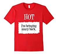 Hot Taco Sauce Halloween Packet Costume T-shirt Red