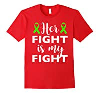 Her Fight Is My Fight Lymphoma Awareness T-shirt Red