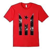 Puerto Rico Resiste Black Flag Camo Shirts Red