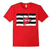 Straight Pride Flag And Love Sign Inside, Heterosexuals Gift Shirts Red
