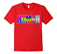 Gay Pride Month Flag Rainbow Support Shirts Red