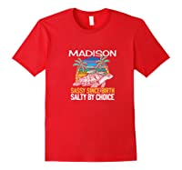 Personalized Madison Design Sassy & Salty Quote Beach Lover Premium T-shirt Red