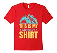Hiking Outdoor Lover Mountains Hiker Shirts Red