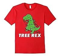 Tree Rex Christmas T Rex Dinosaur Christmas Gift Shirts Red