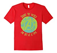 Earth Day Saving The World One Day At A Time Shirts Red