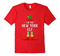 I\\\'m The New York Elf Family Group Christmas T-shirt Red
