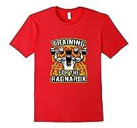 Viking Training For Ragnarok Gym Shirts Red