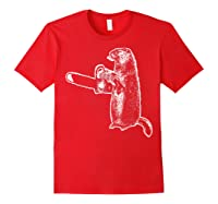 Funny Woodchuck Groundhog Day Could Chainsaw Wood Shirts Red