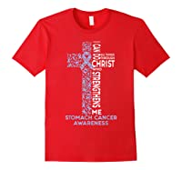 Stomach Cancer Awareness - I Can Do All Things T-shirt Red