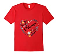 Best Mumsie Ever Heart Flower Blessed Grandma Mother's Day T-shirt Red