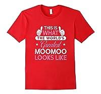 Moomoo Shirt Gift: World\\\'s Greatest Moomoo T-shirt Red