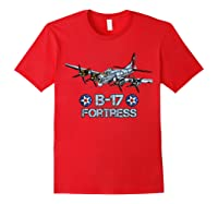 Ww2 Aviation B 17 Flying Fortress Gift Shirts Red