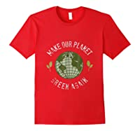 Climate Change Warming Raise Awareness Planet Shirts Red