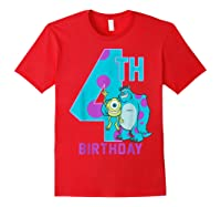 Pixar Monsters Inc Mike Sully Happy 4th Birthday Shirts Red