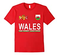 Wales Cheer 2017 Football Welsh Shirts Red
