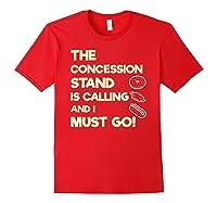 Baseball Softball Funny Sister Brother T-shirt Red
