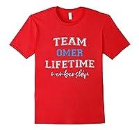 Team Omer Groom Squad Custom Bachelor Party Wedding Shirts Red