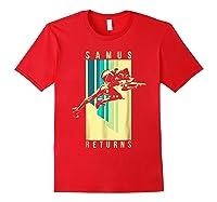 Nintendo Metroid Samus Returns Spotlight Graphic T-shirt Red