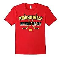 Smashville Nashville Proud Hockey Shirts Red