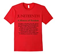 Junenth A History Of Freedom Shirts Red