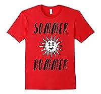 Summer Bummer Seapunk Shirts Red