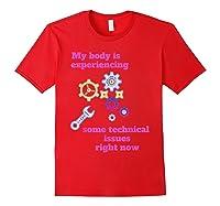 Fibromyalgia Gift Chronic Illness Shirts Red