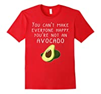 Vegan Funny Can't Make Everyone Happy Not An Shirts Red