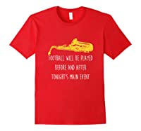 Funny Saxophone Football Main Event Marching Band Sax Shirts Red