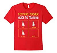 Wire Fox Terrier Guide To Training Dog Obedience T-shirt Red