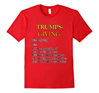 Trumpsgiving Definition Funny Thanksgiving Shirts Red