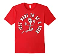 Pixar Toy Story 4 Forky I Don't Belong Poster Shirts Red