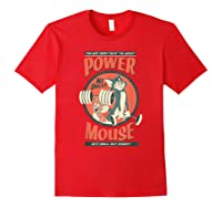 Tom And Jerry Power Mouse T-shirt Red