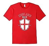 England Soccer English Flag Football Gift Shirts Red
