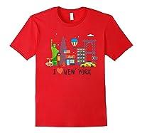 Love New York City Ny Tourist Souvenir Gift Shirts Red
