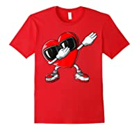 Dabbing Heart Valentines Day Love Dab Dance Gifts T-shirt Red