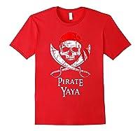 Pirate Yaya Skull And Crossbones Flag T-shirt Red