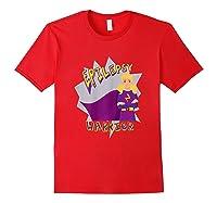 Epilepsy Warrior Shirt Blonde Girl Hero Tee Red