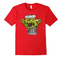 Garbage Monster Funny Gift Halloween Shirts Red