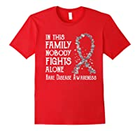 In This Family Nobody Fights Alone Rare Disease T-shirt Red