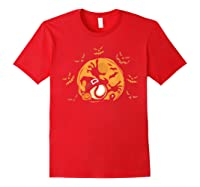 Baseball Pumpkin Witch Hat Funny Halloween Costume Shirts Red