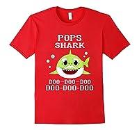 Pops Shark Doo Doo Doo Matching Family Shark Shirts Red