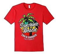 California Hawaii Surf Surfing Board Beach Vintage Retro Shirts Red