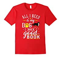 Bernese Mountain Dog Gift Funny Saying Book Love Reading Premium T-shirt Red