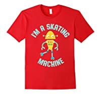 Roller Skating Robot For And Girls Shirts Red